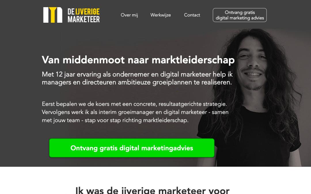 De ijverige marketeer